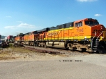 BNSF 7646 southbound stack train